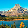 Set up for large panorama 12 X 30 - Swift Current Lake - Glacier National Park