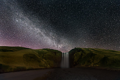 Skogafoss at Night