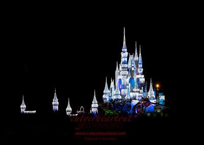 Cinderella's Castle in Ice