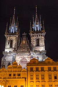 Church of Tyn at Night