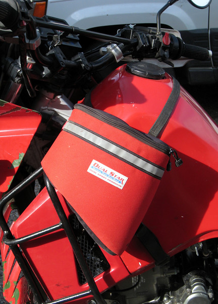 The Dual Star tank panniers secure very tightly to the motorcycle.