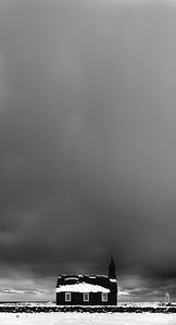 Black Church Under Black Clouds
