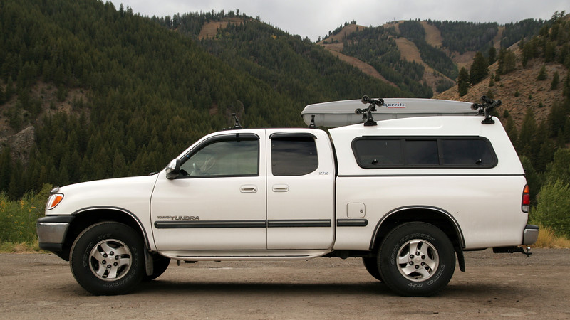 The Raider camper shell for the Toyota Tundra looks great.  Notice the higher roof line so it has more room inside.