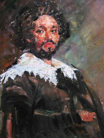 Peter McLaren, Homage to Velasquez, Oil on Board 36 x 30 inches, £7000