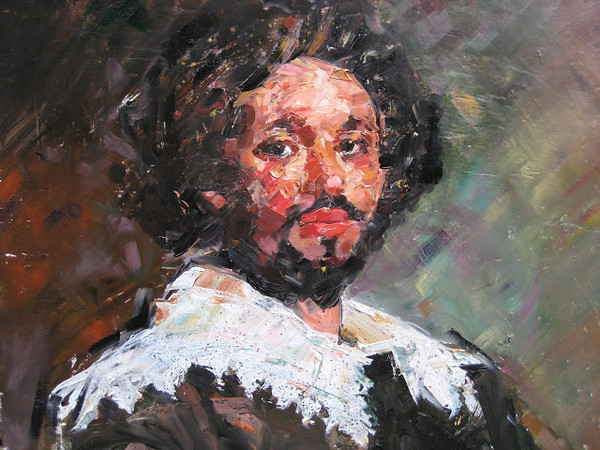 Peter McLaren, Homage to Velasquez (detail), Oil on Board, 36 x 30 inches