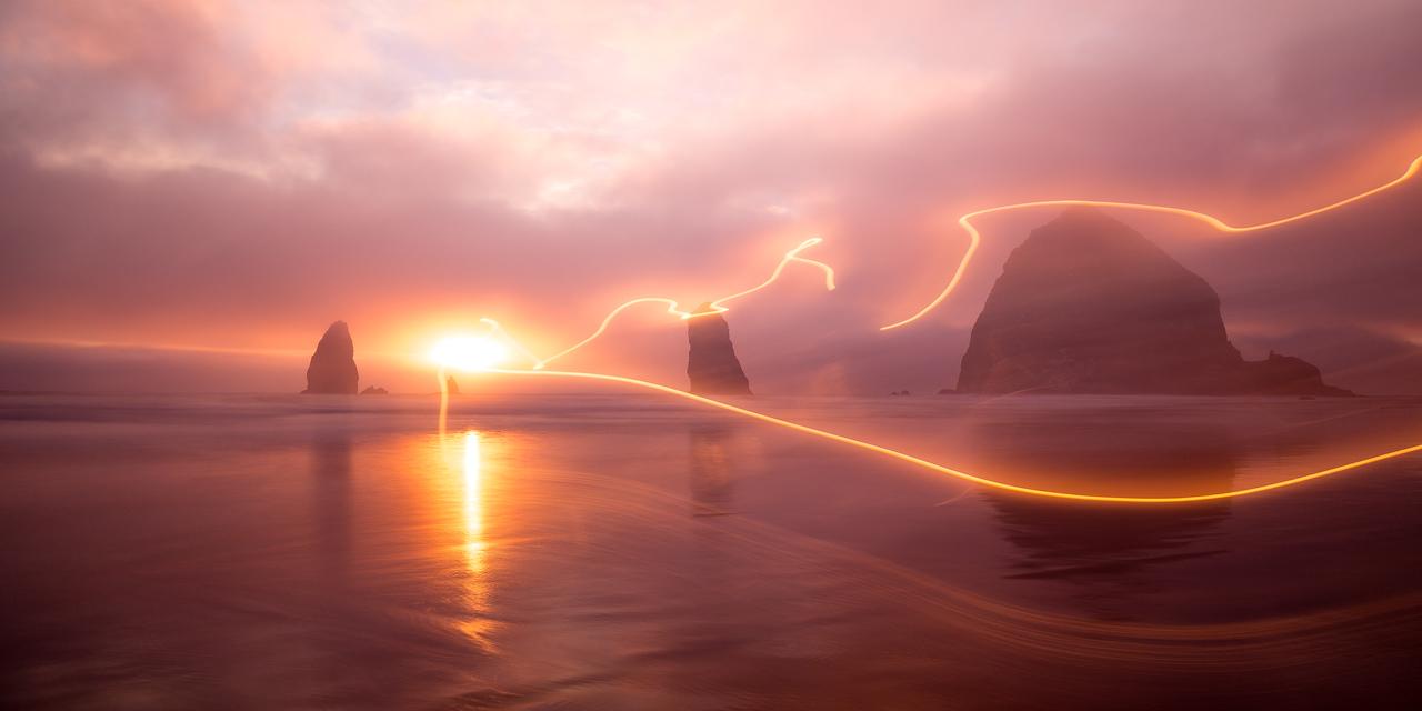 Haystack Rocks    Cannon Beach, Oregon, USA<br /> <br /> Canon EOS 6D w/ EF24-105mm f/4L IS USM: 28mm @ 20.0 sec, f/7.1, ISO 100