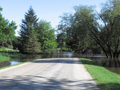 The road was under water that lead to our parking spot