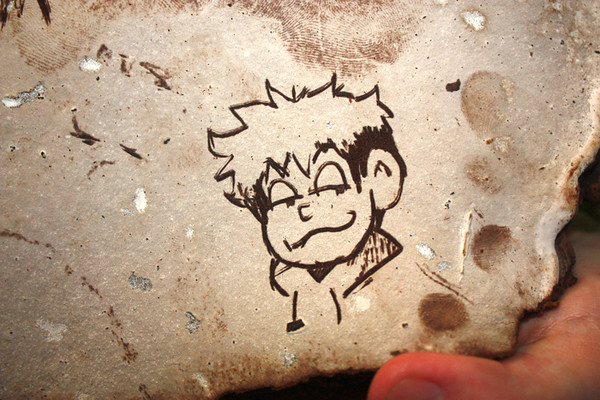 Closeup of artwork.