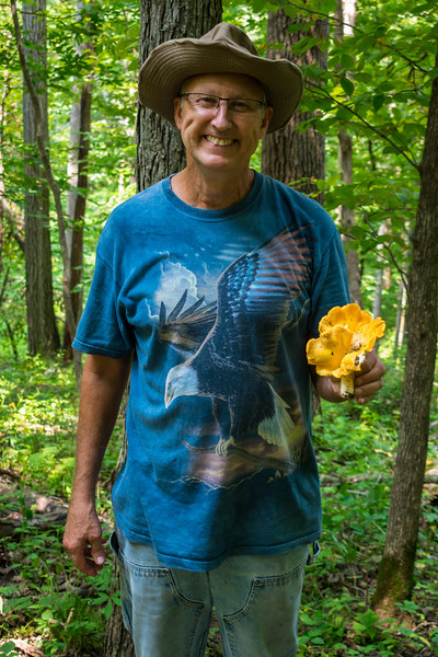 Marty with a honkin' chanterelle