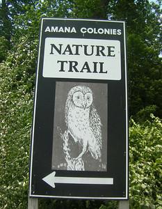Welcome to the Amana Nature Trail, Iowa County Ia