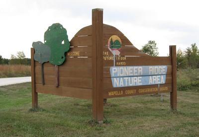The entrance to Pioneer Ridge County Park.