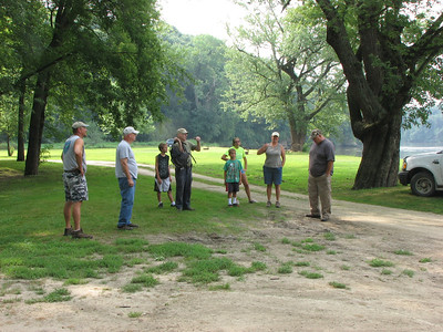 Dave L. talking to some local residents that joined us on the foray.