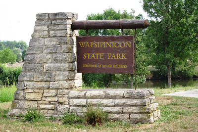 The entrance to Wapsipinicon State Park in Jones County Iowa, Grant Wood country.