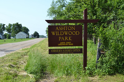 The entrance to Ashton Wildwood Park in Jasper County, Ia.