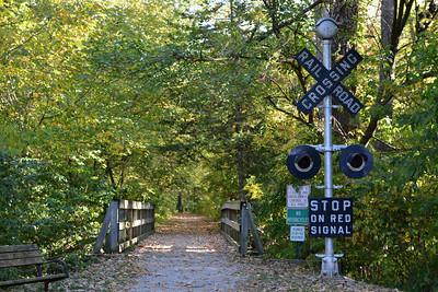 Start of one trail loop.