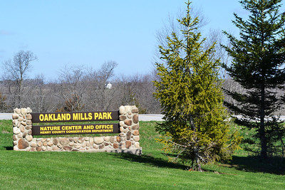 The entrance to Oakland Mills County Park in Heney County, Iowa