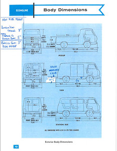 Stock Econoline dimensions, with my ride height calculation, based on CV IFS