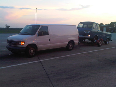 Econoline towing an Econoline