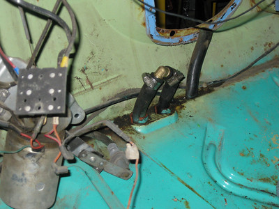 Leaky heater repair: put an elbow in place of the heater box to allow me to continue working on engine.