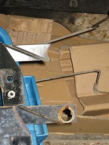 Wiper repair: original and donor replacement, notice broken end.