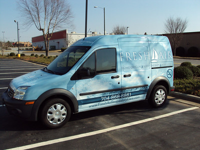 Vehicle wrap for Fresh Air Respiratory care in Mooresville, NC www.skinzwraps.com