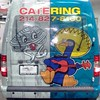 Custom Dual-Design Wrap on a Ford Transit for Blue Goose Cantina and Aw Shucks Oyster Bar