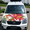 Ford Transit with custom-designed SkinzWrap for Emporium Pies, Dallas TX