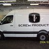 """Plotted graphics installed on a Dodge Sprinter for Screw Products in Dallas, TX.    <br /> <a href=""""http://www.skinzwraps.com"""">http://www.skinzwraps.com</a>"""
