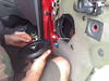 "Speaker adapter plate  from  <a href=""http://www.car-speaker-adapters.com/items.php?id=SAK006""> Car-Speaker-Adapters.com</a>   installed on to door.  Installing aftermarket speaker."