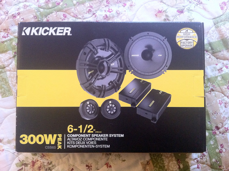 Kicker CSS65 Speakers to be installed