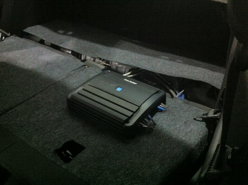 Alpine amplifier installed
