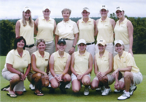 The 2008 Fore State Team competed in team match play at Southern Hills Country Club in Tulsa Oklahoma during August 11- 12.<br /> First Row: Stephany Powell, Christie Greene, Kelly Osborne, Carolyn Schorgl, Madison Marcolla, and Ellen Port<br /> Second Row: Stephanie Mingos, Jenny Schneider, Barbara Berkmeyer, Mindy Bullard, Chelsea Schriewer and Lyndsey Haupt