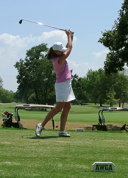 Kayla Eckelkamp shot a course record 67 at Bellerive in the final round of the Amateur Championship.