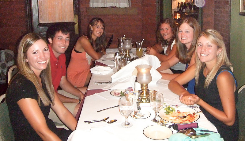 The team enjoyed a dinner at an old favorite restaurant, Taliano's.