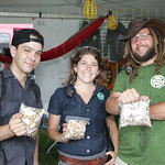 Jackson, Betsy O\'Brien and Dusty Herman at Clean Vibes Trading Post.