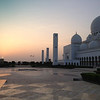 Grand Mosque at sunset.
