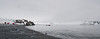 Antarctica - Half Moon Island - Landing Point.  Argentina's Camara Base in the distance.