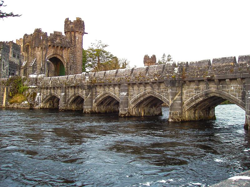 Bridge over the moat.