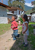 Paro - Kyichu Lhakhang - Children playing on the temple grounds.