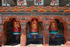 Paro - Kyichu Lhakhang - Prayer Wheels.