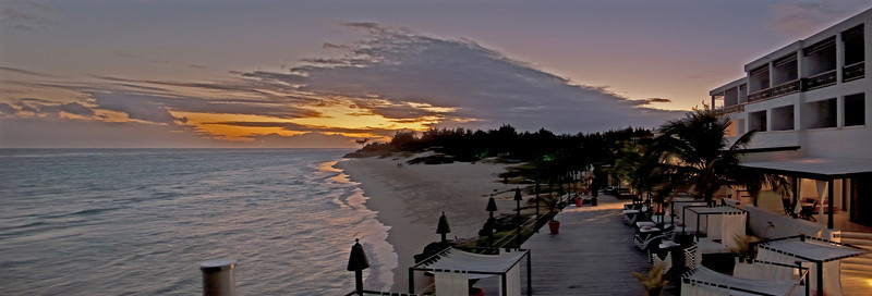 Sunset Panorama of Silverpont Hotel and beach Silverpoint