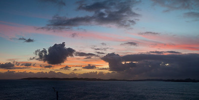 Sunset....Leaving Dominica