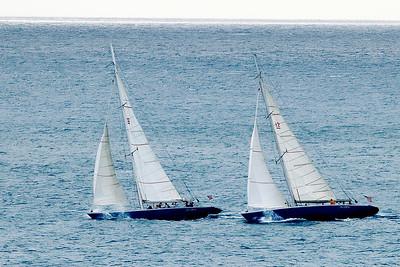12 meters.  Americas cup boats. St. Maartin