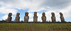 Ahu Akivi - The Moai faces sunset during the Spring and Fall Equinox.