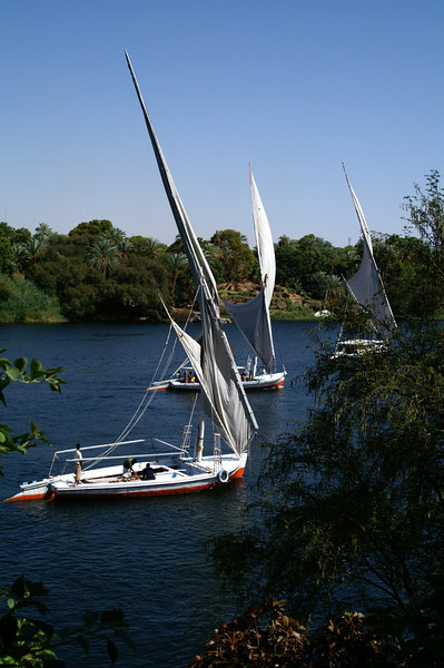 Local boats on the Nile