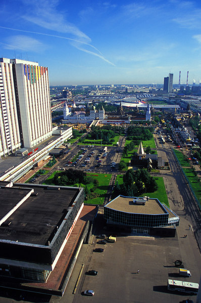 Moscow<br /> Looking out from the hotel room.  The complex was built for the 1980 Olympics and has a bit of a touristy feel to it.