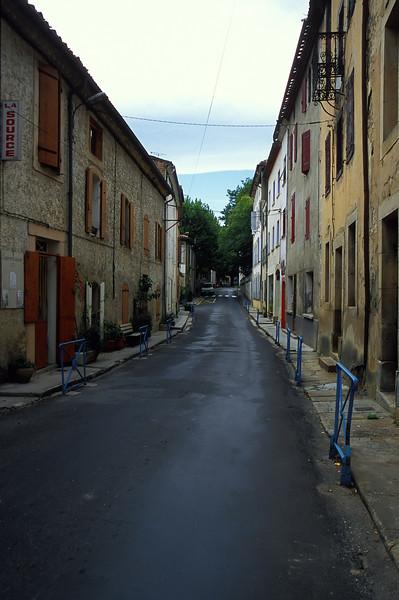 Rennes-le-Bains - Street Scene.  Boy is it busy here.