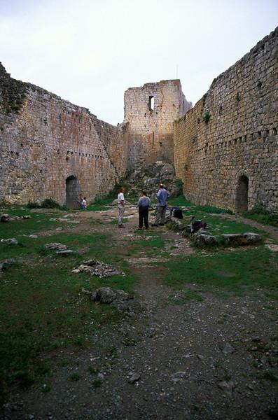 Inside Montsegur.