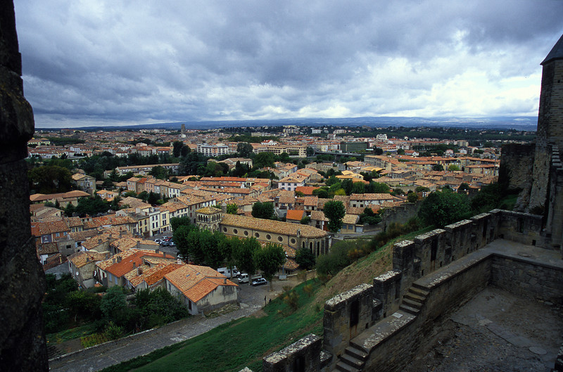 Carcassonne - City as seen from castle.