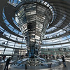 Berlin - Inside the Reichstag Dome.